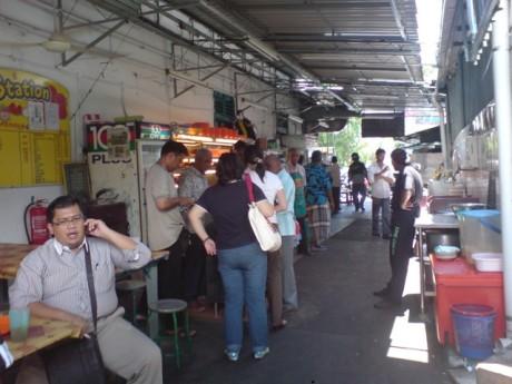 People Queue Up For Nasi Kandar